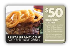 """""""Restaurant Gift Card"""" any card from any restaurant for two."""