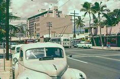 Waikiki Street Scene, 1957