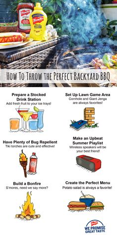 The perfect cookout only calls for a few things! Check it out.
