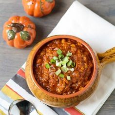 Turkey Pumpkin Chili - pumpkin is great to add to beef stew too!