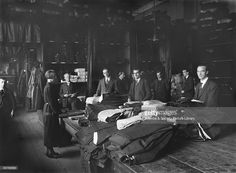 Workers in the London, Midland & Scottish Railway (LMS) clothing department. This is where uniforms for railway workers on the LMS were made. All railway staff who came into contact with the public had to wear a uniform consisting of a jacket or jumper, cap and badge, usually in navy blue. The uniforms were often made-to-measure. April 3 1925.