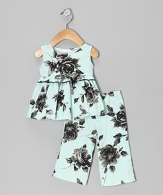 Take a look at this Mint Roses Organic Tunic & Pants - Infant by Mad Sky on #zulily today!