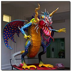 """""""Alebrijes"""", Oaxacan wood carvings. Mexican Artists.  #LoveMexico  http://gotomexico.co.uk/"""