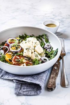 oranges, fennels and mozzarella salad - Insalata di arance, finocchi e mozzarella - salad recipe - healthy recipe - alimentazione sana - food photography - food styling - opsd blog - sonia monagheddu