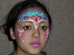 Tiara with background face paint design. Unique