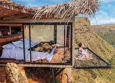"""After seeing pictures of the stunning Refugio La Roca Hotel in Colombia, you'll add it to your travel bucket list ASAP. It's the ideal place for being one with woodhouse The View From This Hotel Room in Colombia With a Suspended Net """"Balcony"""" Is Unreal Location Airbnb, Casa Hotel, Voyager Loin, Bohemian Bedroom Decor, Home Improvement Loans, Modern Bohemian, Boho Chic, Bohemian Style, Resorts"""