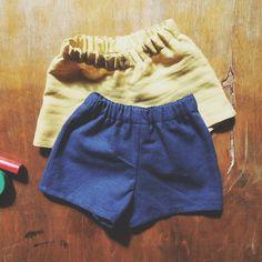 River shorts, baby shorts