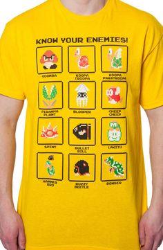 Mario Enemies T-Shirt: Video Games Nintendo, Super Mario Bros T-shirt