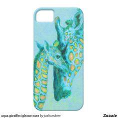 aqua giraffes iphone
