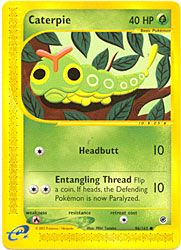 Pokemon Expedition Card 96 - Caterpie $2.99-$3.99