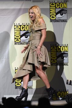 Margot robbie at 'Suicide Squad' Panel at Comic-con 2016 in San Diego