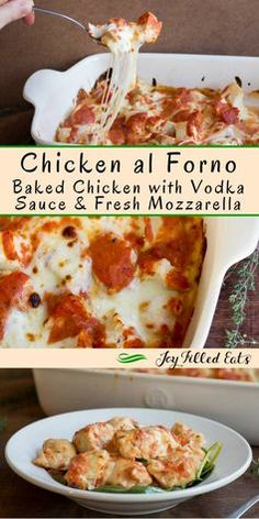 Chicken al Forno with Vodka Sauce & Two Cheeses