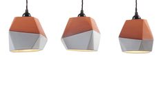 Geometric Terracotta Pendant Set  Set of 3 by Nick Fraser on Clippings.com