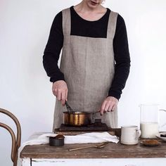 * 'Hot Chocolate and Coconut Milk' *... 'fog linen apron ...  via; 1924us