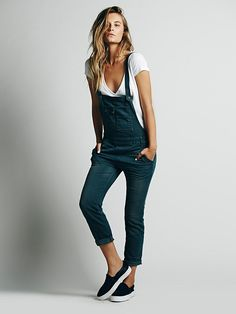Free People Washed Denim Overall, $98.00 soo im pretty much in love with these.