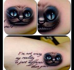 cheshire cat tattoo ideas | cheshire cat quote