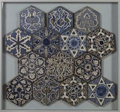 Tile | Made in Damascus, Syria, ca. 1420-1450 | Materials: fritware with polychrome underglazes | VA Museum, London