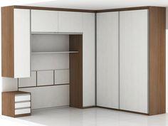 Closet Misto: Com porta de correr e porta de abrir