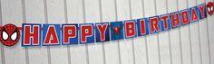 Spider-man Birthday Banner