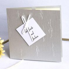 Silber Edel Einladungen Hochzeit
