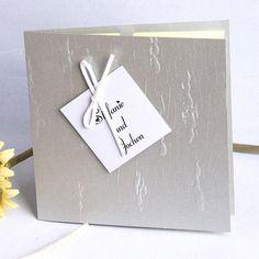 Weil Ich Dich Liebe U003cbr /u003e Silbrig Hochdruck Ausgefallen Einladung Zur  Hochzeit