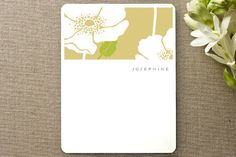 Poppy Field Personalized Stationery by kelli hall at minted.com