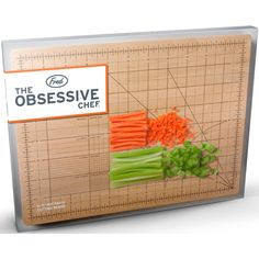 Simply align your carrots with the board's guide rules, and chop them with the mathematical precision your dysfunction desires.