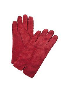 Murrayfiled Wildleder Handschuhe rot