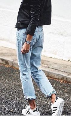 With Boyfriend Jeans and Your Adidas Sneakers