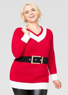 Santa Suit Tunic Holiday Sweater