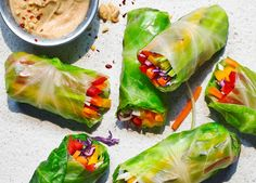 Make this delicious summer rolls with satay sauce recipe today. Roll these up for an impressive sharing platter, or prep ahead for a fresh and crunchy lunchbox
