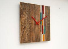 Reclaimed Wood wall Clock Modern wood clock por ArtGlamourSligo