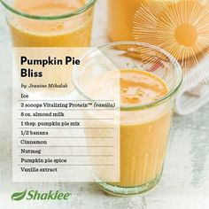 Fall Smoothie Recipes   Shaklee Shakes