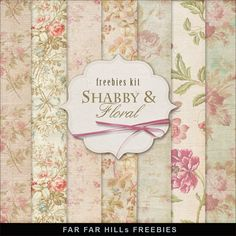 Far Far Hill: New Freebies Kit of Backgrounds - Shabby And Flora...