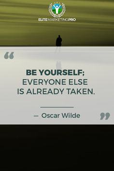 Be You! It's the only person you can ever be