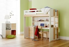 Taylor Loft Bed (with Desk)   Bunk Beds   Kids Bedroom - Snooze