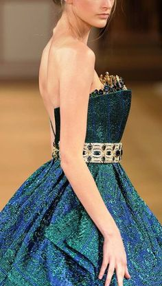 Diamonds Forever: Fall-Winter 2014 #Couture Collection by #TonyYaacoub #dress #fashion #parisfashionweek