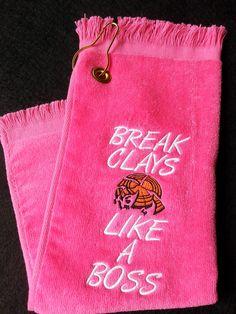 Shooter Towel Shooting Towel Skeet Trap Sporting Clays Hot Pink