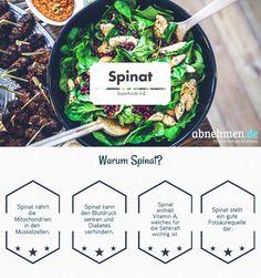 Spinat ist reich an Vitaminen und Mineralstoffen. Betacarotin, Vitamin C oder Folsäure sind in größeren Mengen enthalten.