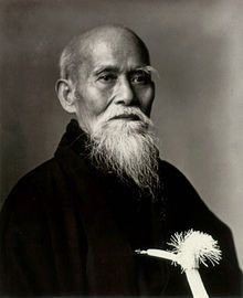 Morihei Ueshiba, founder of Aikido. Considered to be one fo the greatest martial artists of all time, even as a very old man he was known to be able to easily defeat multiple opponents.