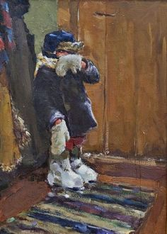 Козлов Виктор Петрович. (Россия, 1931-1993) «Нагулялся» 1961