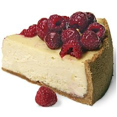 White Chocolate Raspberry Cheesecake ❤ liked on Polyvore featuring food, food and drink, fillers, food & drink and sweets