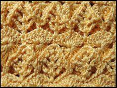 Crochet : Punto Espiga en Relieve. Parte 2 de 2