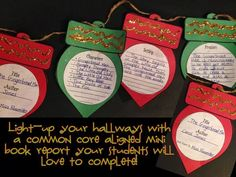 Light up your classroom or hallways with a holiday mini book report craftivity. A great comprehension activity for students to practice writing about story elements. $