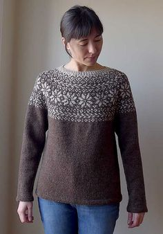 Ravelry: Norwegian Woods Sweater - Skogstjerne pattern by Katrine Fair Isle Knitting Patterns, Sweater Knitting Patterns, Hand Knitting, Norwegian Knitting, Norwegian Wood, Icelandic Sweaters, Aran Weight Yarn, Bunt, Mantel