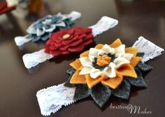 baby headbands - DIY by mollie.stith--Follow me (Hannah seagraves) for more ideas