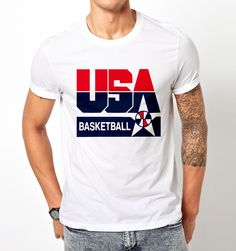 Best Match USA Basketball Logo T Shirt Tee Unisex