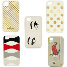 kate spade garance dore iphone cases; cute iphone case; polka dot iphone case; gold stripe iphone case; stylish iphone case; fashionable iphone case; chic iphone case...definitely for Jamie-Lee!