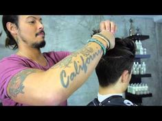 Messy Top Knot Hairstyle | Euro Soccer Cut - YouTube