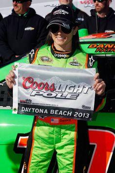Danica Patrick wins Daytona 500 pole